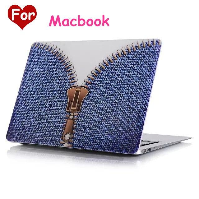 Personal del Vaquero del Grano Duro Caso Para Apple Mac Macbook Air 11 13/Pro 13 15/Retina 12 Shell Bolsa de Ordenador Portátil Con El Envío regalo