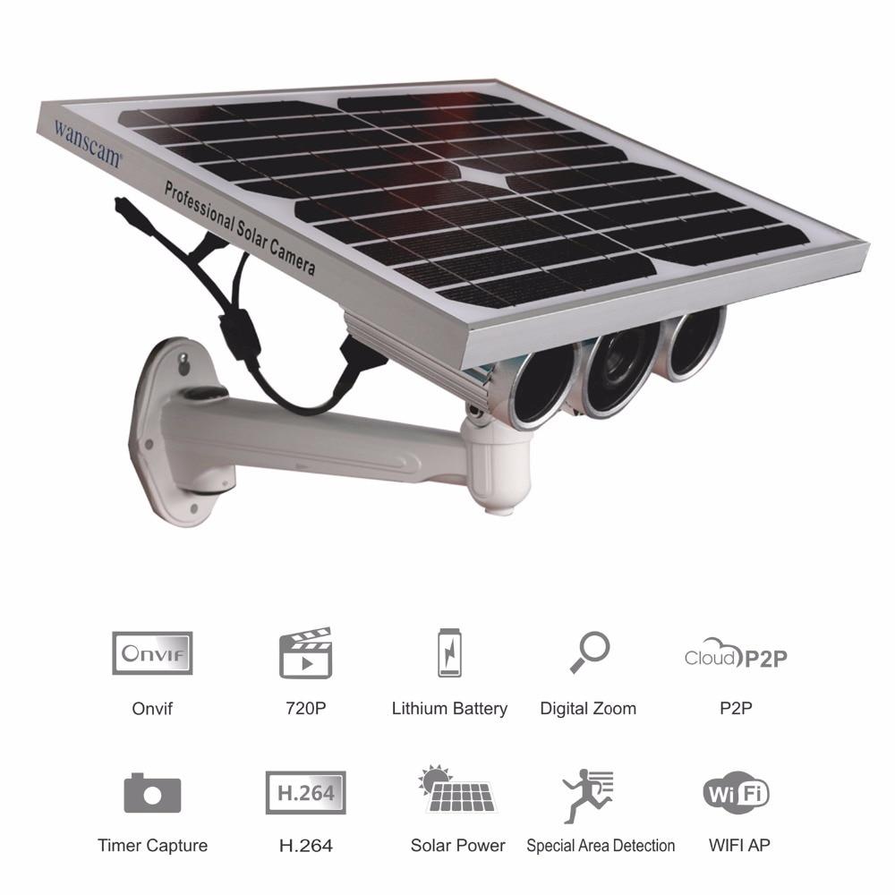 Solar Power Battery Powered WiFi Network IP Camera Starlight