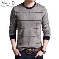 Mwxsd Brand Sweaters Men Fashion Style Autumn Winter Striped Patchwork Knitted Quality Pullover Men O Neck