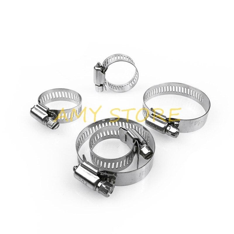 10 Stücke 6-70mm Einstellbare Schraube Wurm Getriebe Stick Schlauch Clamp 304 Edelstahl Schlauch Hoop Auspuffrohr Clamp Clip Modischer Stil; In