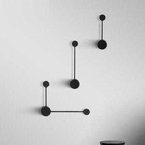 Image 4 - 2020 NEUE Minimalistischen kunst Punkte wand licht moderne LED wohnzimmer wand lampe Nordic kreative gang leuchten Schwarz Weiß