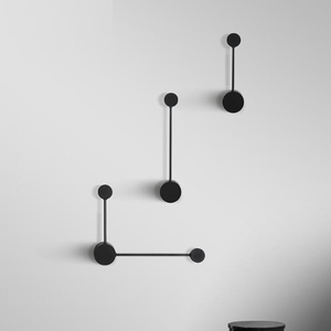 Image 4 - 2020 新ミニマルアートドットウォールライト現代の主導リビングルームの壁ランプ北欧クリエイティブ通路照明器具ブラックホワイト