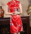 Novelty Wedding Party Dress Chinese Women Traditional Dress Silk Rayon Cheongsam Qipao Floral Plus Size S To XXXL HB036