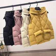 winter jacket women vest slim hooded coat parkas mujer 2019 moda invierno for