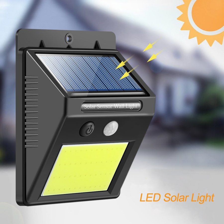 Solar Garden Light SMD COD LED Solar Lamp Motion Sensor Waterproof Outdoor Lighting Decorative Street Lights Security Wireless