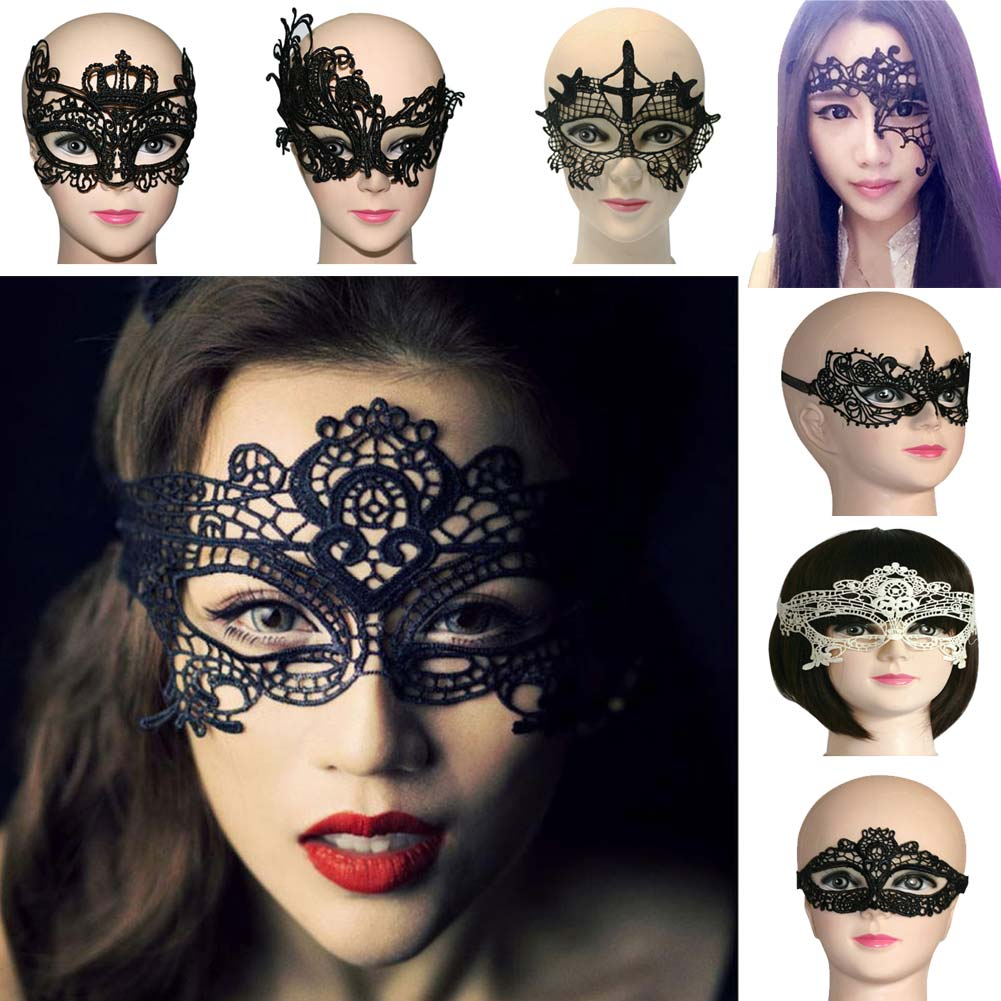 Women Colorful Bronzing Lace Masquerade Party Club Rave Ball Custom Eye Mask