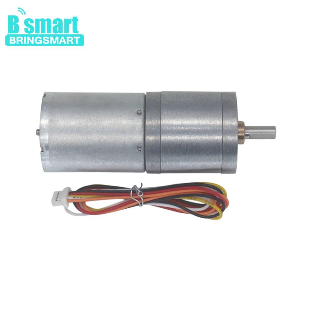 Bringsmart 12-24V BLDC Gear Motor  Motor 14-1550RPM Brake High Control Electric DC Motor For Automation equipment  JGA25-2430