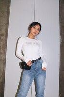 Chinese Girls Long sleeved Tight collar T shirt Women's Elastic Fitness Short Belly Navel Black Leisure Cotton Street T shirt