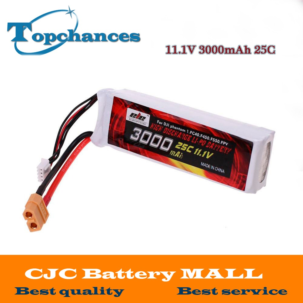 1x Magic Upgrade Lipo Battery 11 1V 3000mah 25C XT60 Plug for DJI Phantom 1 FC40