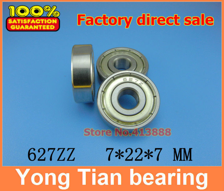 10pcs free shipping Miniature deep groove ball <font><b>bearing</b></font> 627ZZ 627-2RS S627ZZ S627-2RS 7*22*7 mm image