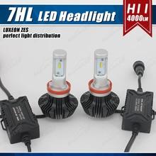 1 Set H8 H9 H11 50W 8000LM G7 Auto LED Headlight Headlamp DRL Fog Bulbs LUMILED LUXEON ZES 16SMD Chips Fanless Super White 6500K