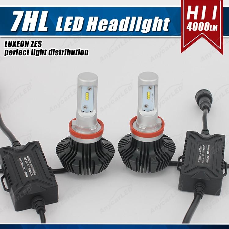 1 set H8 H9 H11 H16 (JP) 50W 8000LM G7 LED-strålkastare - Bilbelysning - Foto 1