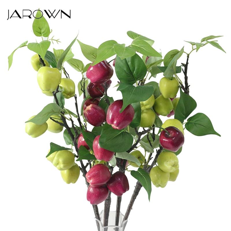 JAROWN Branches D'arbres Artificiels Simulation Apple Fruits Feuilles Pour Le Mariage Décoratifs pour La Maison Décoration De Bureau