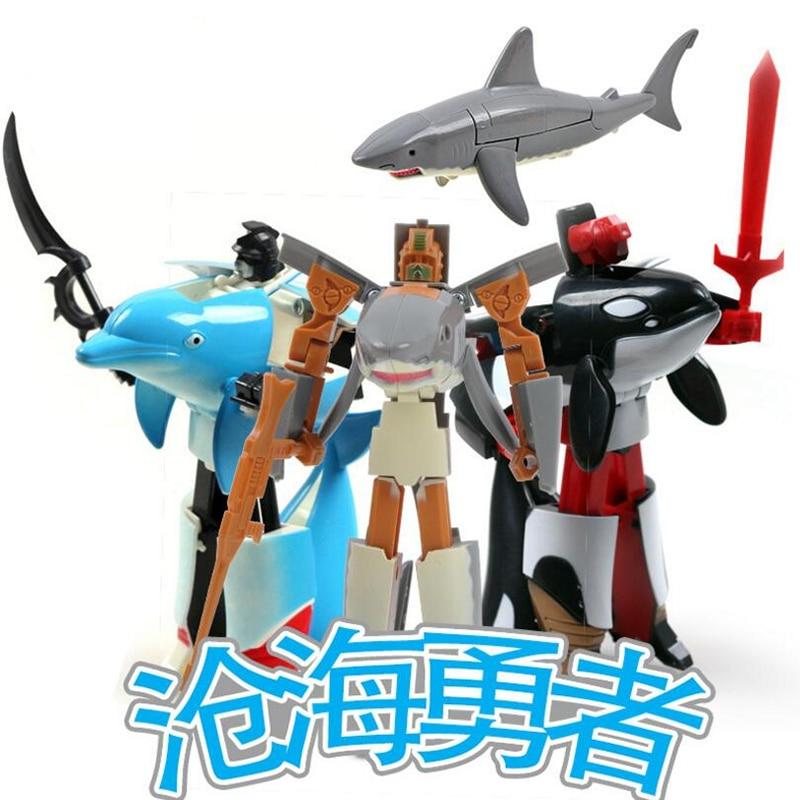 nuevo robot deformacin juguete animal tiburones juguete del nio regalo de cumpleaos