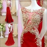 Ren Beading Mermaid Mở Lại robe de soiree longue 2017 NỮ HOÀNG BRIDAL Arabic Evening Gowns Dresses Custom Made GX40