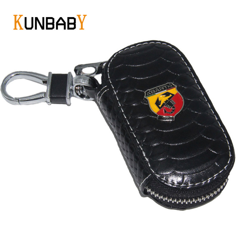 KUNBABY Leather Key Case For Car Bag Car Key Holder Cover