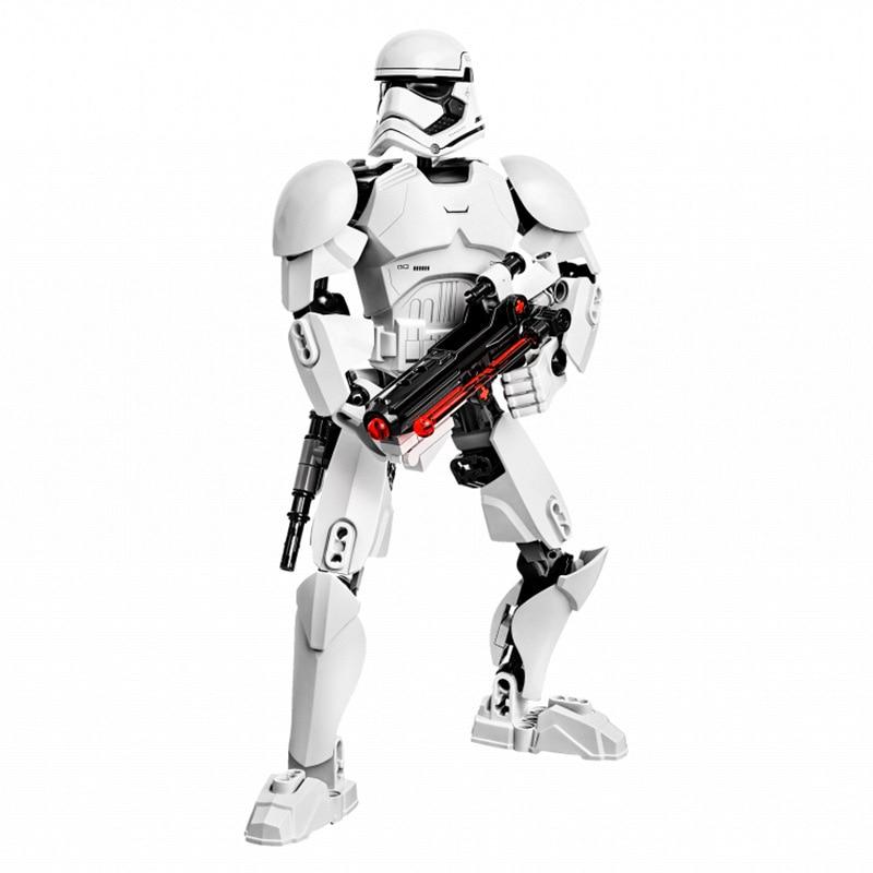Звездные войны сборная фигура строительный блок Штурмовик Дарт Вейдер Kylo Ren Chewbacca Boba Jango Фетт фигурка игрушка для детей - Цвет: Stormtrooper
