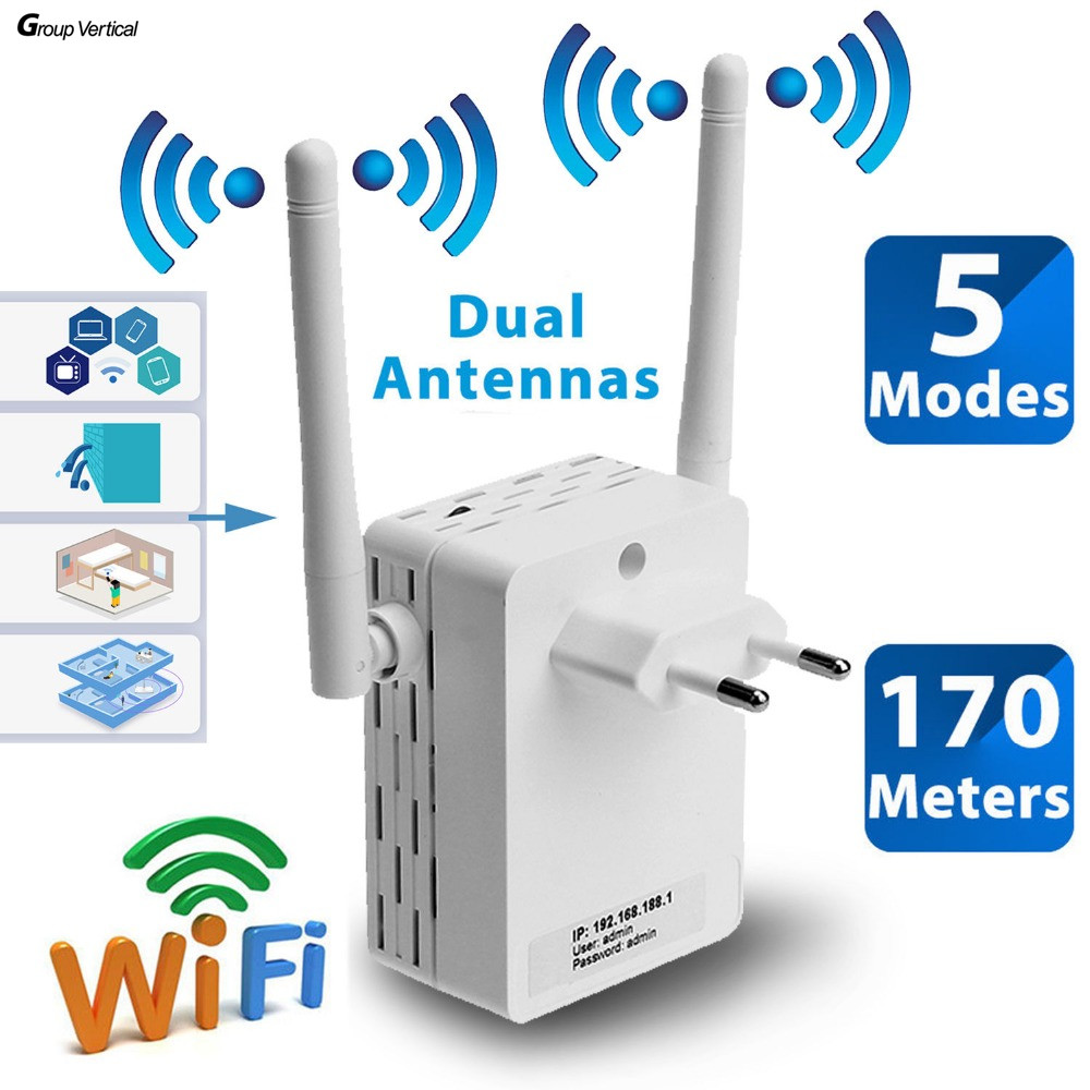 Group Vertical repeater signal boosters cellular Amplifier 300Mbps Wireless Range Extender WiFi Network Extender for phone pc