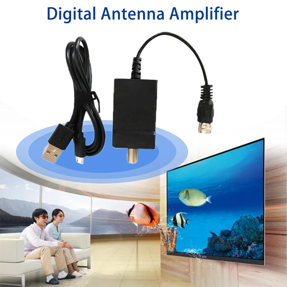 50-100 Mile TV Antenna Signal Amplifier Universal USB Signal Amplifier HDTV Signal Booster ATSC/DVB-T2 TV Antenn Signal Booster