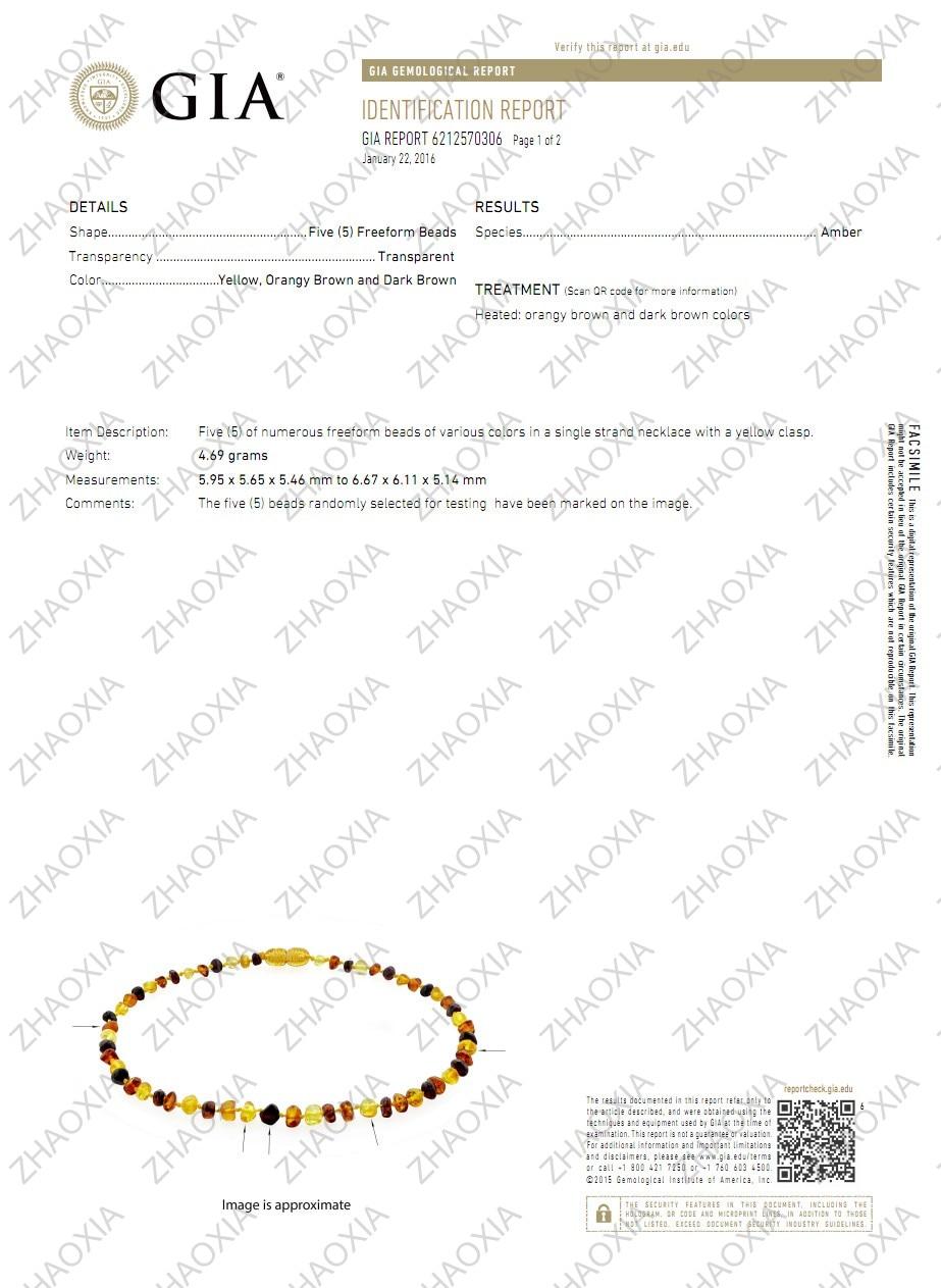 Kalung Gigi Baltik Amber Amber untuk Bayi (Cognac) - Buatan Tangan di - Perhiasan bagus - Foto 6