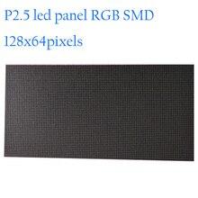 높은 해상도 128x64 도트 p2.5 실내 led 디스플레이 모듈 320x160mm rgb smd led tv 패널 인테리어 광고 led 화면