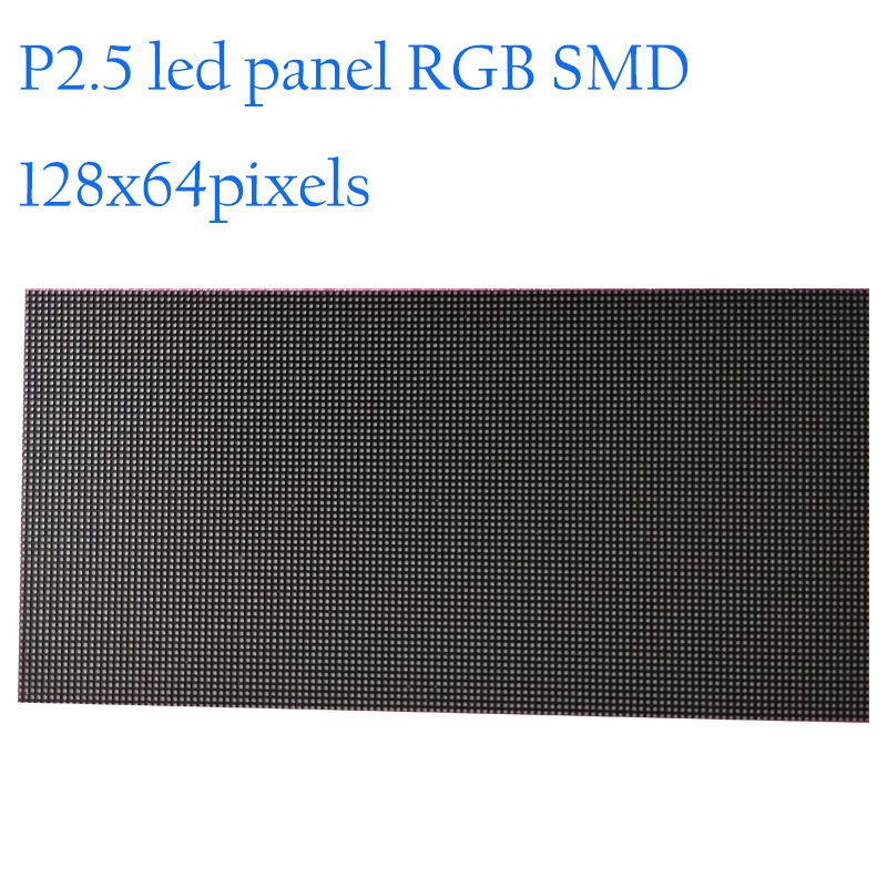 Vernuftig Hoge Resolutie 128x64 Dots P2.5 Indoor Led Display Module 320x160mm Rgb Smd Led Tv Panel Interieur Reclame Led Scherm