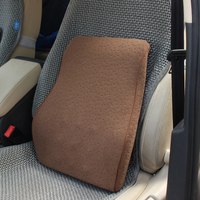 Car Seat Back Cushion Memory Cotton Lumbar Supports Waist Sipports Pillow Interipr Accessories
