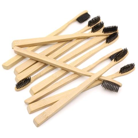 dr perfect 50 pcs lote fundo quadrado de bambu escova de dentes por atacado de