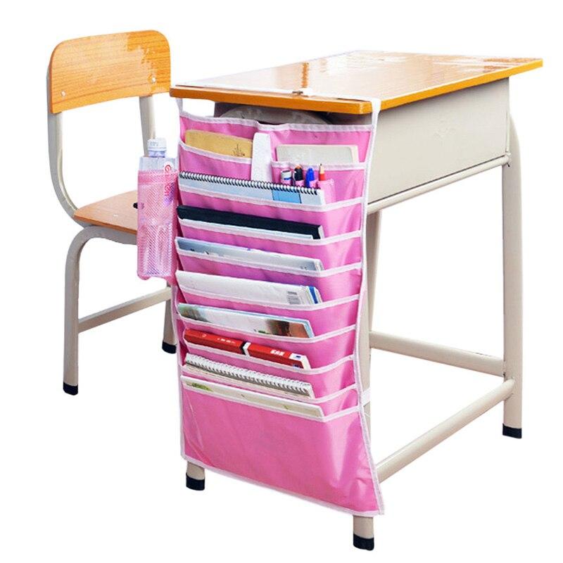 New Adjustable Desk Book Organizer Bag For Desk Width Useful Books Storage Bag Efficient School Bookend Rack E2shopping