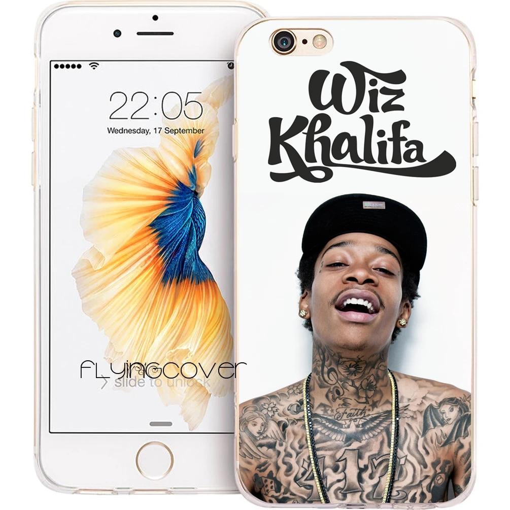 Coque Wiz Khalifa tatouage clair souple TPU Silicone housse de téléphone pour iPhone 7 7 Plus étui pour iPhone 5 S 5 SE 6 6 S Plus 4 S 4 5C étuis.