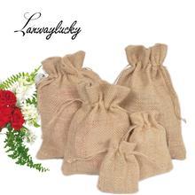 Оптовая продажа натуральные джутовые подарочные сумки деревенские