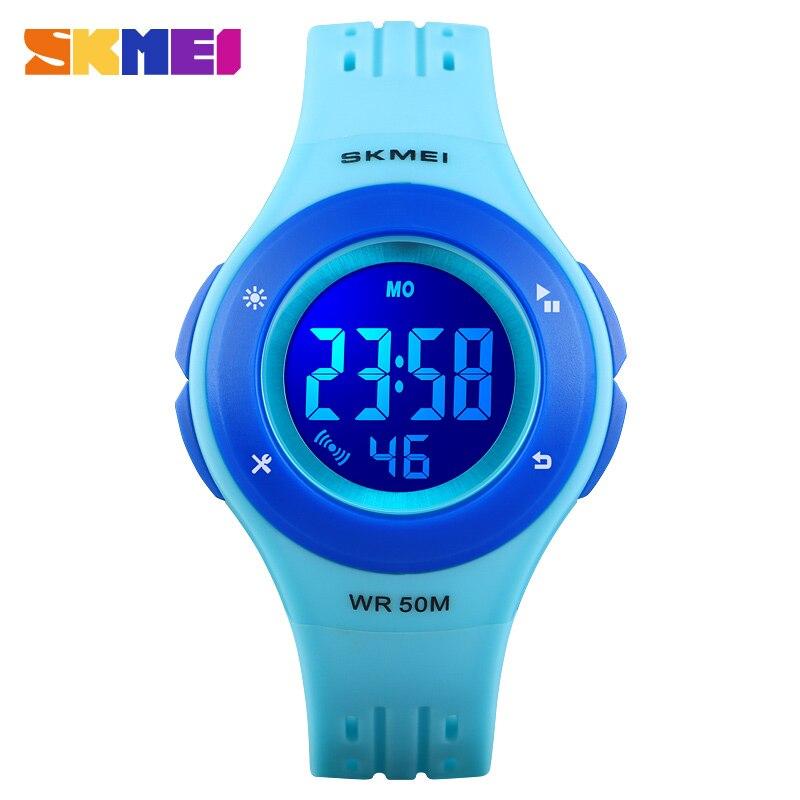 SKMEI 1455 Kids Watch LED Sport Style Children's Digital Electronic Watch Boy Girl Fashion Clock Cartoon 50M Waterproof Watch