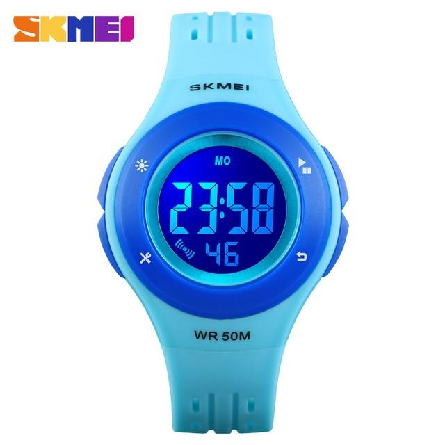 SKMEI 1455 Kids Watch LED Sport Style Children's Digital Electronic Watch Boy Gi