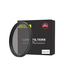 Kutupro 67mm C-PL Circular Polarizador CPL Filtro de Lente 67mm Para Canon NIKON Sony Olympus Camera