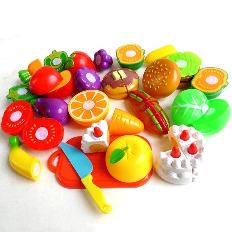 nuevos juguetes del beb diy vegetal alimento de la cocina de corte de fruta de plstico juguetes para nios juegos de imaginaci