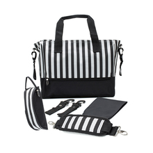 Stripe multi-function large-capacity Mummy bag waiting for maternal and child care travel shoulder