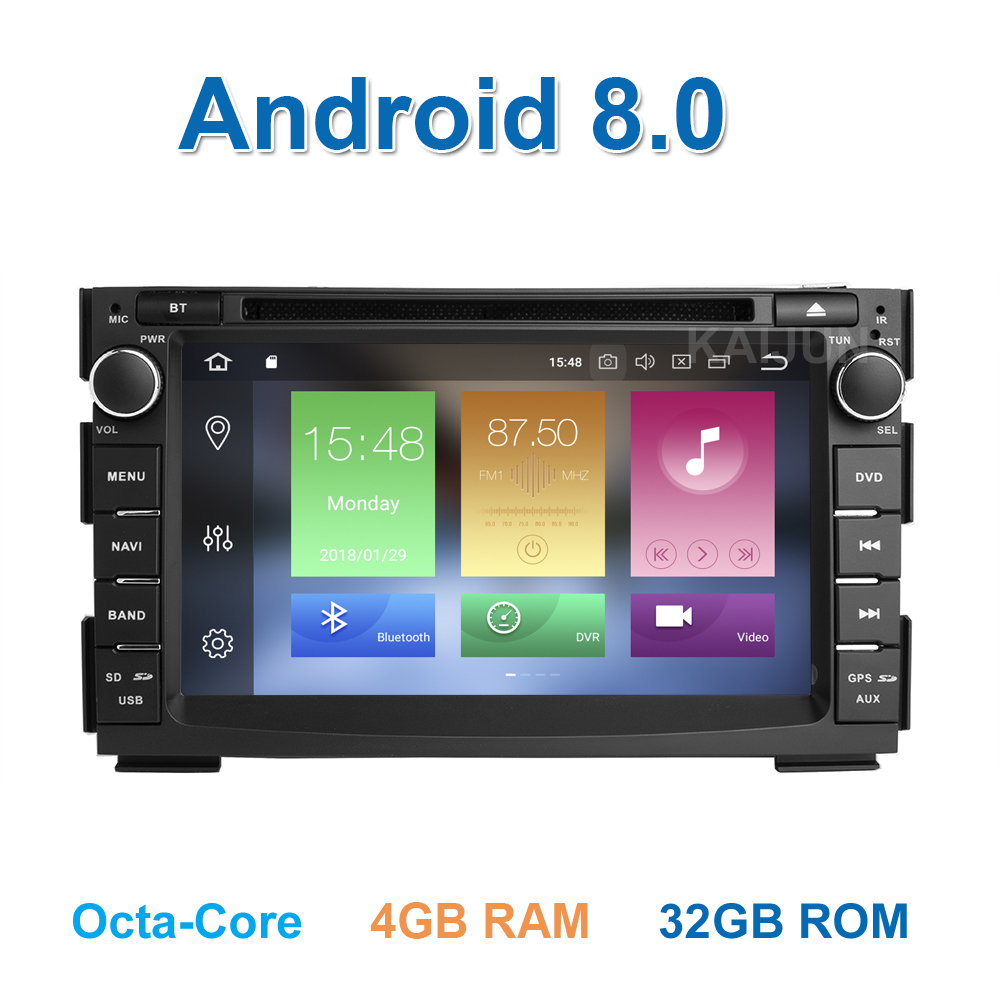 IPS screen Android 8.0 Car DVD Player Multimedia for Kia Ceed 2009 2010 2011 2012 with Wifi BT Radio GPS 4 GB RAM цена