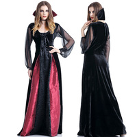 Deluxe Halloween Devil Costume Role Play Suit Queen Of Vampire Cosplay Party Dress S M L