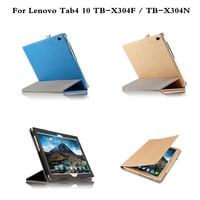 Flip PU Leather Book Luxury Protective Bag Case For Lenovo Tab 4 10 TB X304F TB