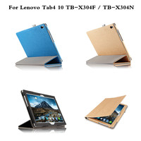 Flip PU Leather Book Luxury Protective Bag Case For Lenovo Tab 4 10 TB X304F TB