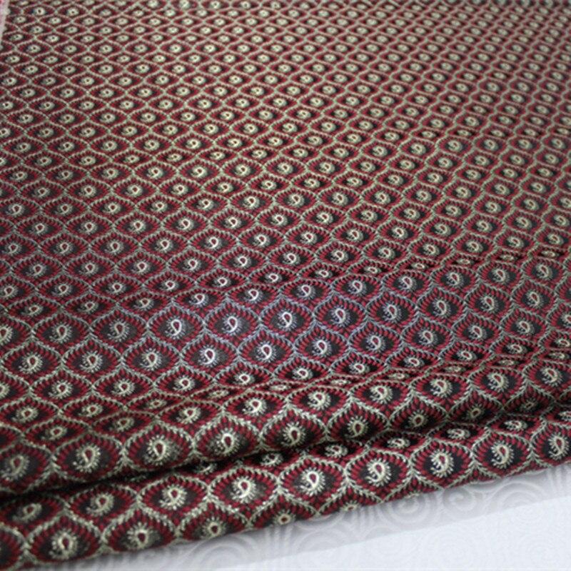 Cf209 1 ярд 90 см Вышивка китайские свадебные шелковые ткани сатин жаккард Ткань для Ципао китайские ткани Домашний Текстиль