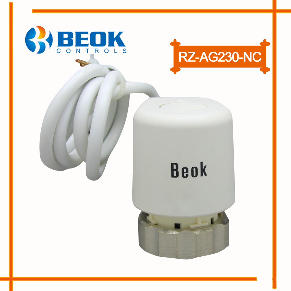 RZ-AG230-NC Normal Close AC 230V Thermal Electric Actuator For Water Floor Heating System silent wire ac 44 ag powercord 1 5m