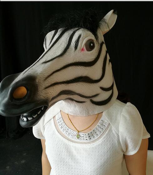 Masca capului de cai Costume de Halloween Capul latex natural acoperă o  mască de latex de calitate alimentară