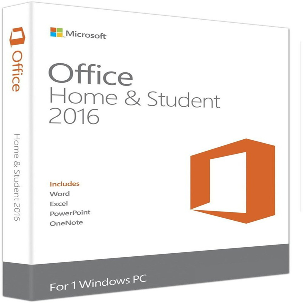 Microsoft Office Home And Student 2016 Software For Windows License 1 Product Key Retail Boxed DVD Version | 1 User(China)