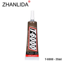 ZHANLIDA T-6000 25ml Epoxy Resin Touch Screen Repair Ceramics Point Diamond Craft Hook Decoration T6000 Glue