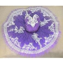 Free Shipping Custom Purple Ballet Dress Adults Ballet Lace Beads Decoration Tutu Child, Retail Wholesale Ballet Style Dresses