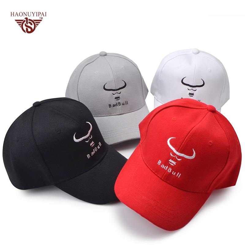 New Stylish Women Mens Baseball Caps Custom Embroidery Letter Bad Bull  Snapback Hats Adult Casual Visor Cap Adjustable Hat BQ018-in Baseball Caps  from ... 14ba823653c