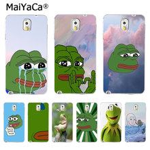 MaiYaCa the frog meme High Quality phone Accessories cover for Samsung Galaxy S3 S4 S5 I9500 S6 S7 S8 PLUS Mobile Cover(China)
