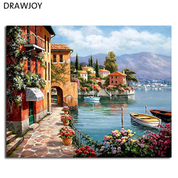 Framed pictures diy painting by numbers home decoration for living room diy digital canvas oil painting.jpg 250x250