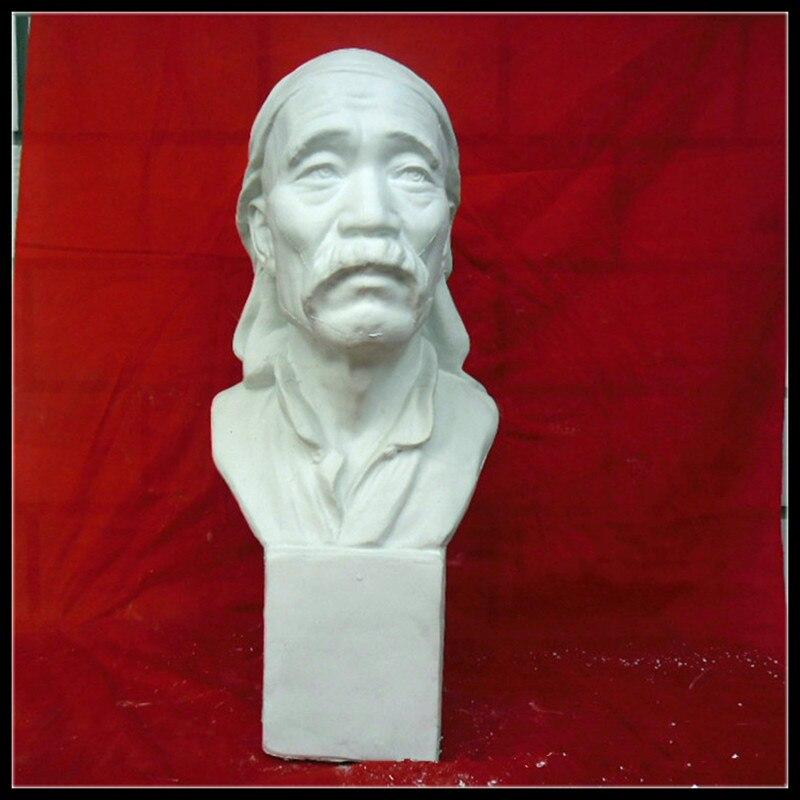 Гипсовая статуя фермер глава портреты бюст тонкой Книги по искусству s Книги по искусству и Craft украшения дома 58 см L2293